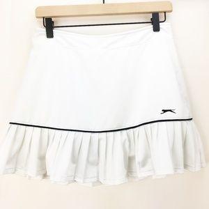 Slazenger Women's White Pleated Golf Skirt